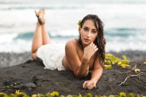 Photo intimate sur la plage de la Réunion