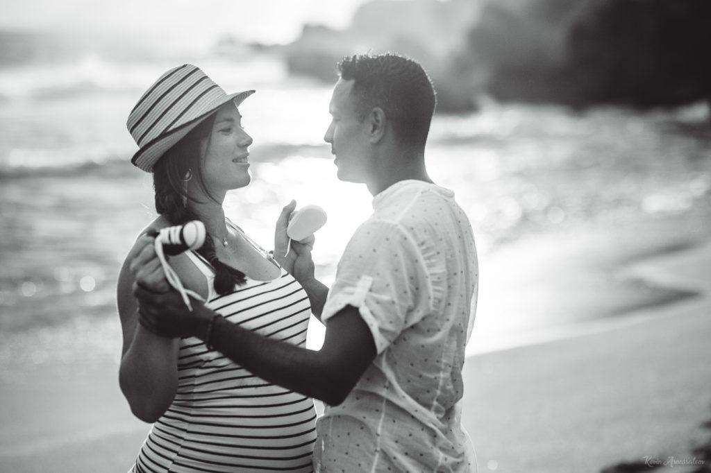 Photos de couple en noir et blanc à la Réunion (974)